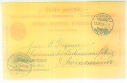 """P 13 Klarer KGS """"ZÜRICH BRE. EXP."""" 1895 - Ganzsachen"""