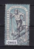 """Cecoslovacchia 1960:  Francobollo Usato Da 60 H. Della Serie """"2^ Spartachiade Nazionale. 1^ Serie"""". - Tschechoslowakei/CSSR"""