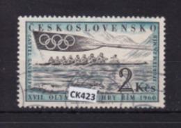 """Cecoslovacchia 1960:  Francobollo Usato Da 2 Kr. Della Serie """"Olimpiadi Di Roma"""". - Gebraucht"""