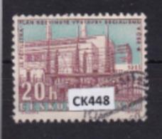 """Cecoslovacchia 1960:  Francobollo Usato Da 20 H. Della Serie """"3° Piano Quinquennalei"""". - Tschechoslowakei/CSSR"""