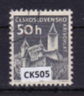 """Cecoslovacchia 1963: Francobollo Usato Da 50 H. Della Serie Ordinaria """"Castelli"""". - Tschechoslowakei/CSSR"""