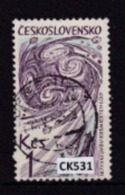 """Cecoslovacchia 1965: Francobollo Usato Da 1 Kr. Della Serie """"Esplorazione Dello Spazio"""". - Tschechoslowakei/CSSR"""