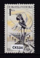 """Cecoslovacchia 1965: Francobollo Usato Da 1 Kr. Della Serie """"3° Spartachiade Nazionale. 2^ Serie"""". - Tschechoslowakei/CSSR"""