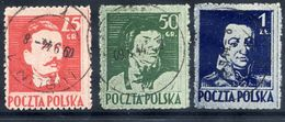 POLAND 1944 Liberation Heroes Perforated 11½, Used, Signed Jungjohann BPP.  Michel 380-82C - Used Stamps