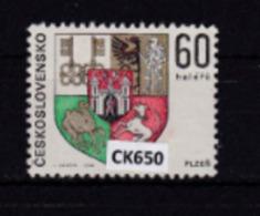 """Cecoslovacchia 1968: Francobollo Usato Da 60 H. Della Serie """"Stemmi Di Città. 1^ Serie"""". - Tschechoslowakei/CSSR"""