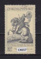 """Cecoslovacchia 1969: Francobollo Usato Da 1,60 Kr.  Della Serie """"Quadri Raffiguranti Cavalli"""". - Tschechoslowakei/CSSR"""