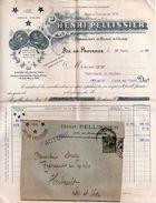 H.PELLISSIER - AIX EN PROVENCE (FABRICANT HUILE D'OLIVE) - ENVELOPPE + FACTURE (1922 ) - A ENTETE SOCIETE. - 1900 – 1949