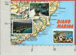 CARTOLINA VG ITALIA - DIANO MARINA (IM) - Vedutine - Cartina - 10 X 15 - ANN. 1985 - Imperia