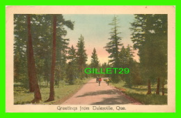 GREETINGS FROM DALESVILLE, QUEBEC - SOUVENIR DE LACHUTE - ANIMÉE - CIRCULÉE EN 1950 - S.D.C. - - Souvenir De...