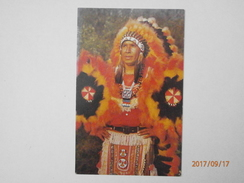 Postcard An Indian Chief Cherokee Indian Reservation Cherokee North Carolina Native American Int PU 1973 My Ref  B11660 - Native Americans