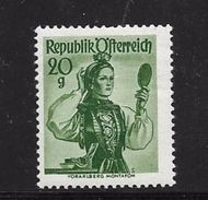AUTRICHE 1958/59 COSTUMES REGIONAUX  YVERT N°884 NEUF MNH** - 1945-60 Neufs