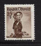 AUTRICHE 1958/59 COSTUMES REGIONAUX  YVERT N°885  NEUF MNH** - 1945-60 Neufs
