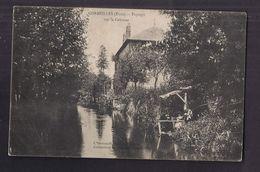CPA 27 - CORMEILLES - Paysage Sur La Calonne - TB PLAN Petit Cours D'eau Et Belle Maison à Droite Ou Moulin ANIMATION - Francia