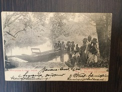 AK  CONGO FRANCAIS   EN ROUTE PAR PIROQUE  1903 - Congo Francese - Altri