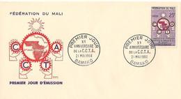 Timbre - Afrique - Mali -  PREMIER JOUR - C.C.T.A. - BAMAKO - 1960 - (2) - - Mali (1959-...)