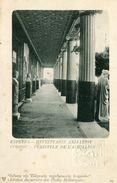 CORFOU - PERISTYLE De L' ACHILLION - LOT De 2 CARTES  - (TIMBRE ENTIER POSTAL & CACHET SEC GAUFRE) - - Grèce