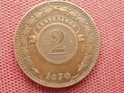PARAGUAY Monnaie De 2centesimos 1870 Très Bon état - Paraguay