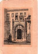 STAMPA ANTICA: CASA DE LUTERO EN EISENACH- 21 X 30_Originale D'Epoca100%- - Stampe & Incisioni