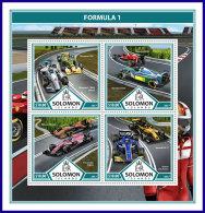 SOLOMON ISLANDS 2017 ** Formula 1 Formel 1 Formule 1 M/S - OFFICIAL ISSUE - DH1737 - Cars