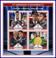 SOLOMON ISLANDS 2017 ** Nelson Mandela Muhammad Ali M/S - OFFICIAL ISSUE - DH1737 - Famous People