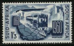 SOUTH AFRICA UNION, 1960, Mint Hinged Stamp, Railways,  272, #83 - South Africa (...-1961)