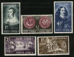 SOUTH AFRICA UNION, 1952, Mint Never Hinged Stamps, First Settlement, 224-228,  #71 - South Africa (...-1961)