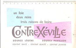 Buvard Contrexéville Un Foie Deux Reins Trois Raisons De Boire Contrexéville Source Légère Source Pavillon - Limonadas - Refrescos