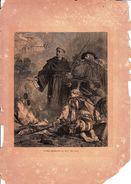 STAMPA ANTICA:  LUTERO QUEMANDO LA BULA DEL PAPA_Originale D'Epoca100%- - Stampe & Incisioni