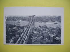 CPA,   Bird's Eye View Of New York & East River Bridge - NY - New York