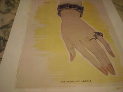 ANCIENNE PUBLICITE JOAILLIER  VAN CLEEF & NARPELS (place Vendome) 1942 - Bijoux & Horlogerie