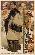 -ref V537-chromo 11cms X 7cms - Chocolat De Guyenne -les Costumes - Chine -china   - Chromo Bon Etat   - - Chocolat