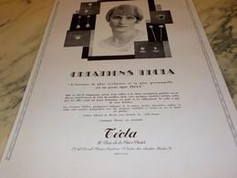 ANCIENNE PUBLICITE LES PERLES D ORIANT CREATION TECLA 1929 - Bijoux & Horlogerie