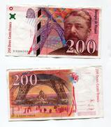 """D17 France 200 Francs """""""" EIFFEL """""""" 1996 # 1 - 1992-2000 Dernière Gamme"""