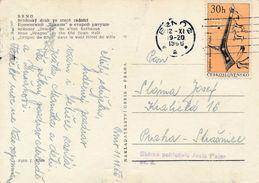 M0190 - Czechoslovakia (1966) Brno 2 (postcard: Brno); Tariff: 30h (stamp: Indians Of North America - Tomahawk) - American Indians