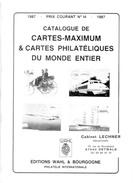 Catalogue Cartes Postales Maximum 1987 édition Whal état Superbe - Livres