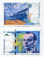 "D17 France 50 Francs """" St EXUPERY """" 1999 - 1992-2000 Last Series"