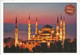 Mosquée Sultanahmet Camii,La Mosquée Bleue,Istanbul, Belle Carte Postale Adressée ANDORRA,avec Timbre à Date Arrivée - Islam
