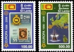 Sri Lanka 2006 Yvertn°  1478-1479 *** MNH  Cote 18 Euro 50 Ans Europa 50 Jaar - Sri Lanka (Ceylan) (1948-...)