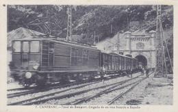 CPA ESPAGNE - CANFRANC - Tunel De Somport - Aragon Huesca Près De Jaca - Gare Voie électrifiée Train électrique - Spanje