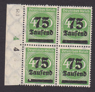 Germany, Scott #251, Mint Never Hinged, Numbers Surcharged, Issued 1923 - Allemagne