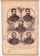 STAMPA ANTICA: RITRATTI DEI PP. GELOT,SEGURET, RIVAL, ANTOINE ET MANISSOL-TRUCIDATI Nel TONCHINO Nel GENNAIO 1884- - Stampe & Incisioni