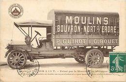 -ref V507- -transports- Camion - Transport - Moulins -bouvron - Nort Sur Erdre - P Guihot Et G Bouet  - - Camions & Poids Lourds
