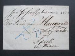 Altdeutschland Mecklenburg L2 Neustrelitz 1854 Bartaxe / Blaustift. Mit Siegel - Mecklenburg-Schwerin