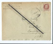 Enveloppe Ancienne De 1945 Timbrée - Bois - Matériaux De Construction-Chaumont En Vexin  -(Oise )  Dest- Notaire - Marcophilie (Lettres)