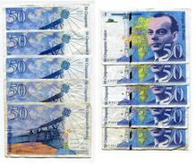 "D17 France 50 Francs """" St EXUPERY """" 1992 + 1993 + 1994 + 1997 + 1999 - 1992-2000 Last Series"