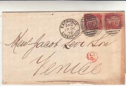 Liverpool To Venezia, Piego Con Contenuto 1872 - 1840-1901 (Regina Victoria)