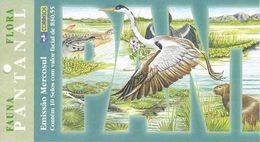 BRAZIL, 2001, Booklet 24, Flora & Fauna Pantanal - Carnets