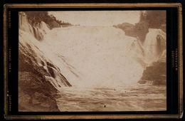 RAR ! Photo CDV 1884 !  Norge Trondhjem Trondheim  Lerfossen     Ungel./uncirc. 1884   Erh./Cond. 2-/3   Nr. 00049 - Norvège