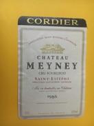 5284 - Château Meyney 1986 Saint-Estèphe - Bordeaux