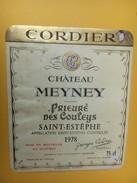 5286 - Château Meyney Prieuré Des Couleys 1978 Saint-Estèphe - Bordeaux